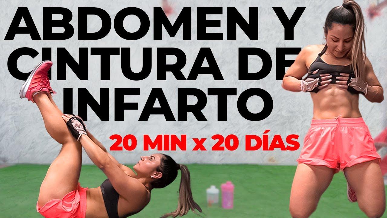 (#6) ABDOMEN y CINTURA de INFARTO en 20 MIN DIARIOS - Vientre Plano en CASA