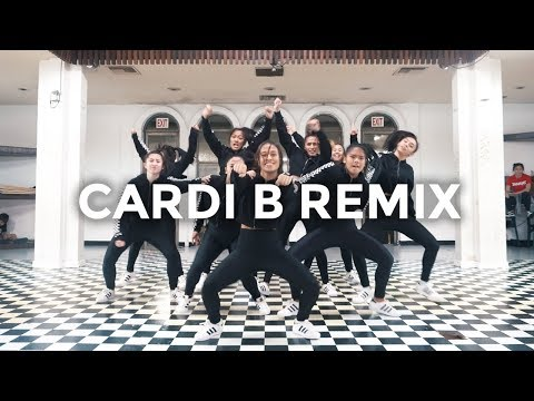 Cardi B Remix - Bartier Cardi, Bodak Yellow, MotorSport, No Limit/Plain Jane (Dance Video)
