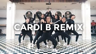 Cardi B Remix - Bartier Cardi, Bodak Yellow, MotorSport, No Limit/Plain Jane (Dance Video)