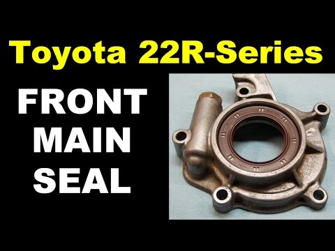How To Fix Toyota 22R Front Main Seal Oil Leak (22R 22RE 22RTE) No Speedi Sleeve!