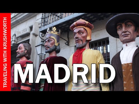 Tour Madrid Spain city centre travel video guide (tips); Spain tourism attractions