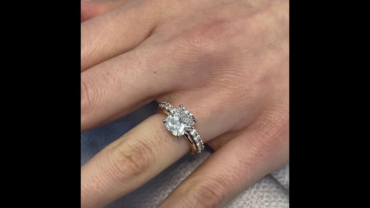 2.5 carat Cushion Cut Diamond Signature Wrap Engagement Ring