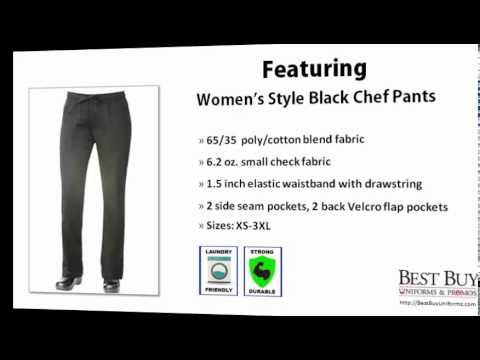 2c3686f60c Shop Best Buy Uniforms for Women s Black Chef Pants - YouTube
