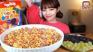 🍒알록달록 후루트링 2박스와 크림슨🍇_ Shugi Mukbang eating show
