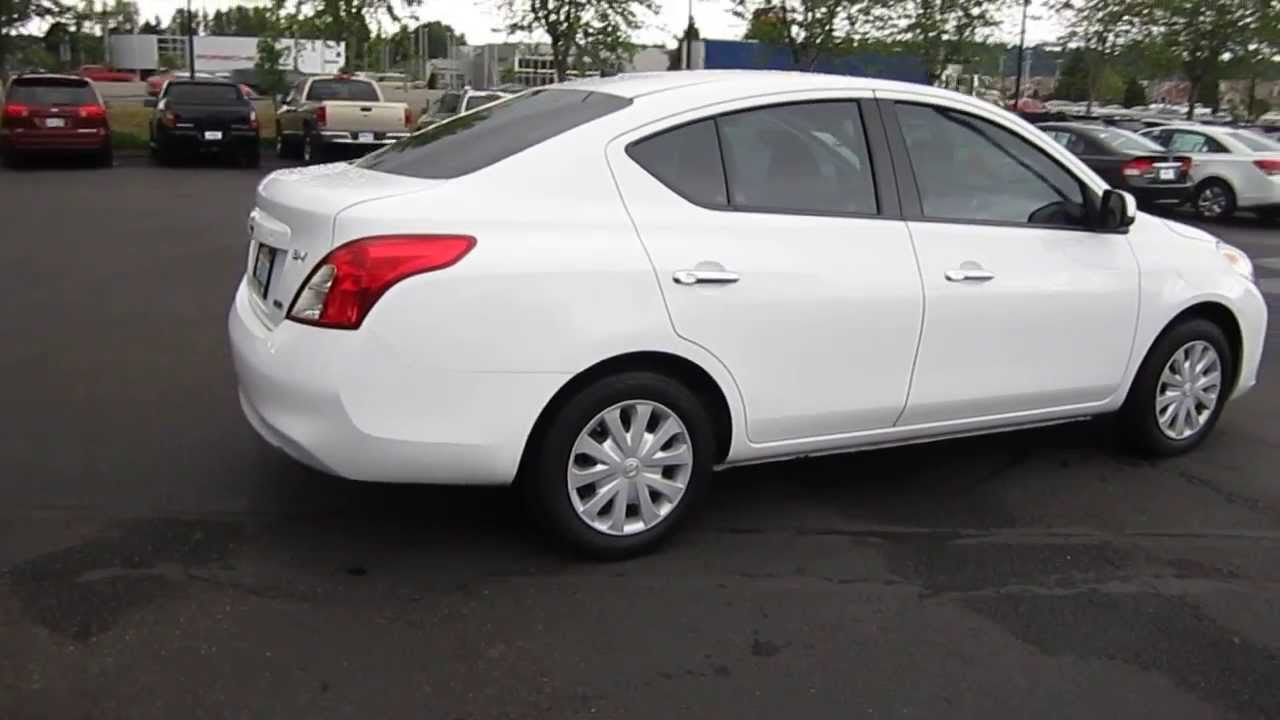 2012 nissan versa white stock 730805 youtube. Black Bedroom Furniture Sets. Home Design Ideas