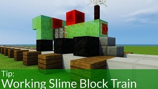 How To Build a Slime Block Train In Minecraft