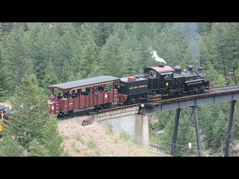 Railfanning At Georgetown Loop Railroad At Silver Plume, CO And Georgetown, CO 7-26-17