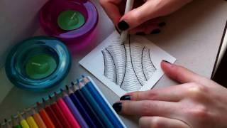 1 урок по рисованию. (Зентангл. Дудлинг. Раскраски антистресс.)