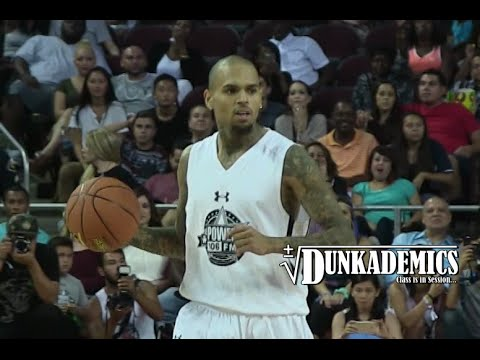 Chris Brown Drops 30pts @ Power106 Game! Crazy Handles!