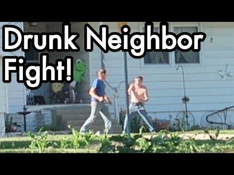 White-Trash Neighbor Fight: Crazy Drunk / Drug Rage Meltdown, Truck gets