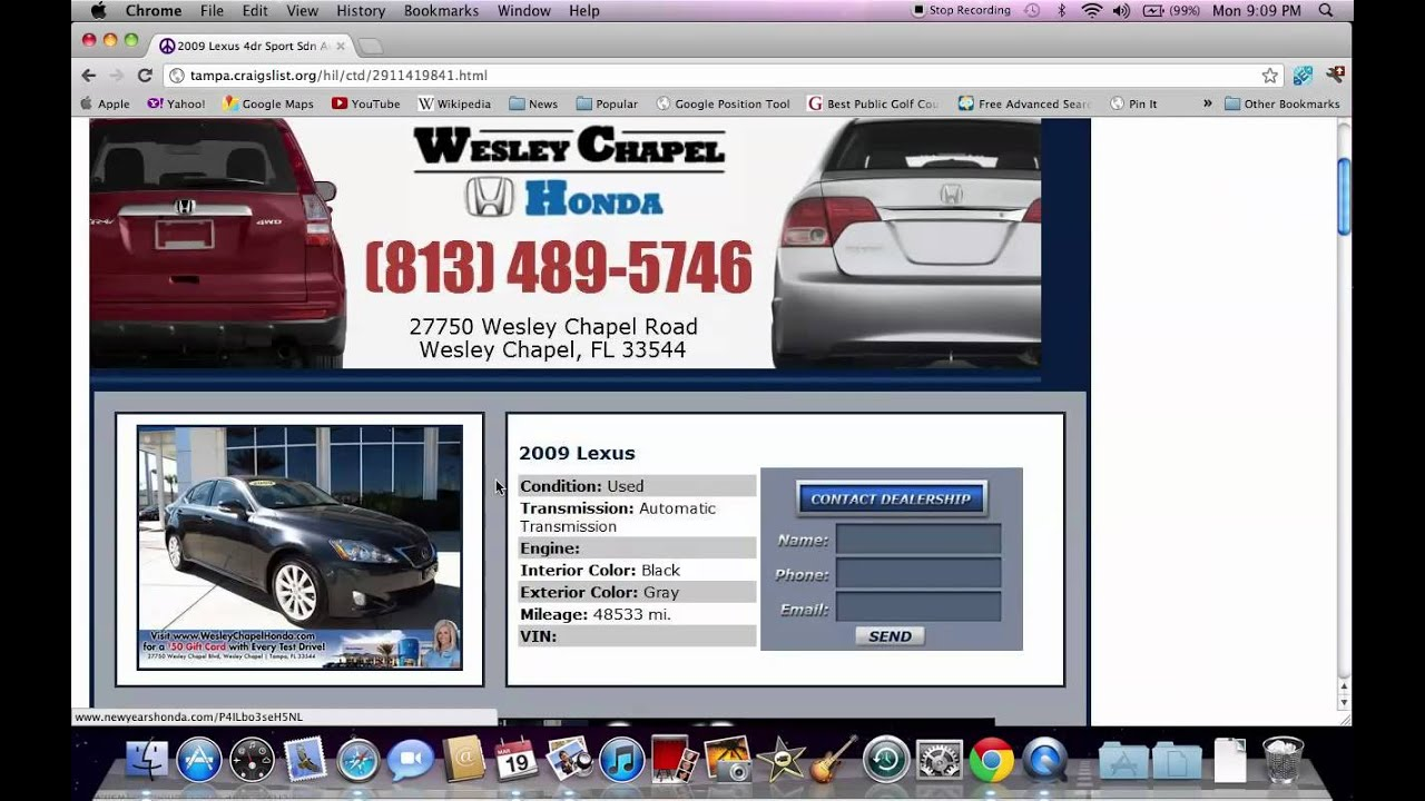 Craigslist Tampa Fl Cars Used Trucks And Vans Available Youtube