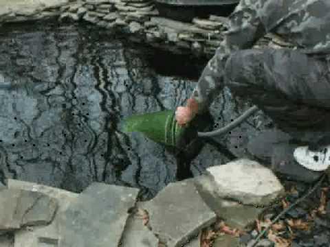 Pond Filtration Set Up Spring Youtube