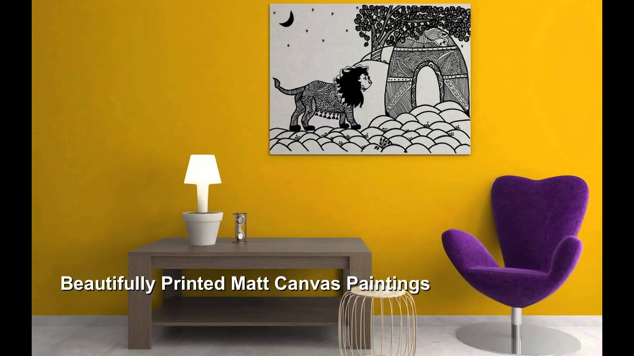 A Victory of a Royal King Lion (Canvas Paintings) - YouTube