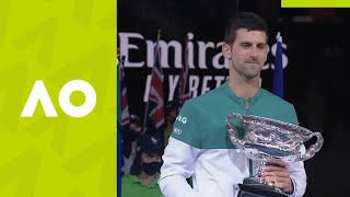 Men's Singles Ceremony - Novak Djokovic vs Daniil Medvedev (F) | Australian Open 2021
