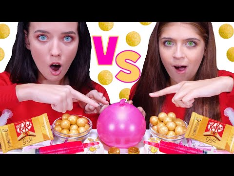 pink-food-vs-gold-food-challenge-음식-챌린지-eating-sounds-by-lilibu