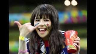 Cute Japanese Girls & Football Fans in World Cup 2014 Brazil