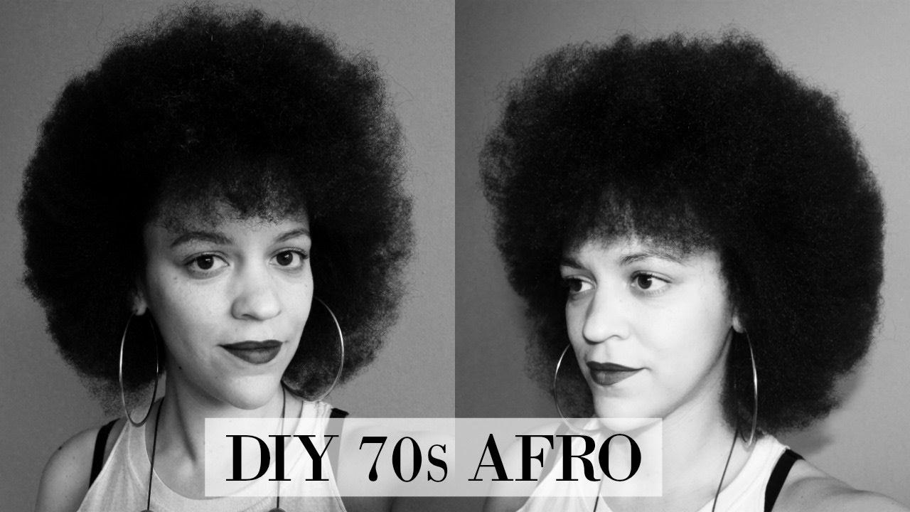 Tutorial 70s Inspired Afro Natural Hair Cabo Verde Inspired