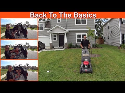 Cutting Grass - Basic Lawn Mowing Equipment For #SideHustle Money