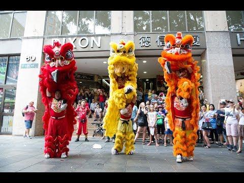 JWK Lion Dance - CNY2017 - Chinatown Sydney