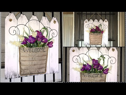 DIY DOLLAR TREE SPRING FRONT DOOR DECOR - YouTube