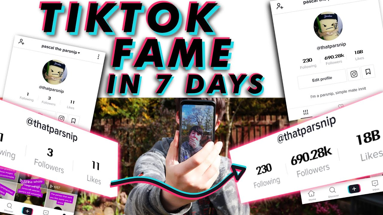 How To Become TIKTOK FAMOUS in 7 DAYS! (0 - 700k OVERNIGHT!) | The Quest For Success EP1