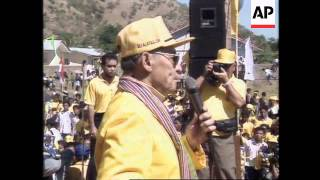 INDONESIA: FOREIGN MINISTER ALI ALATAS ATTENDS RALLY IN EAST TIMOR