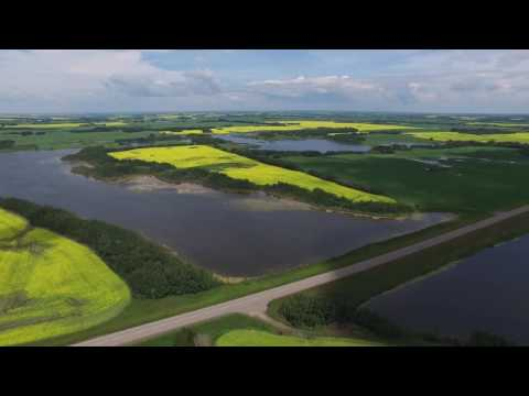 DJI Inspire 1 11km flight through Alberta's Beauty