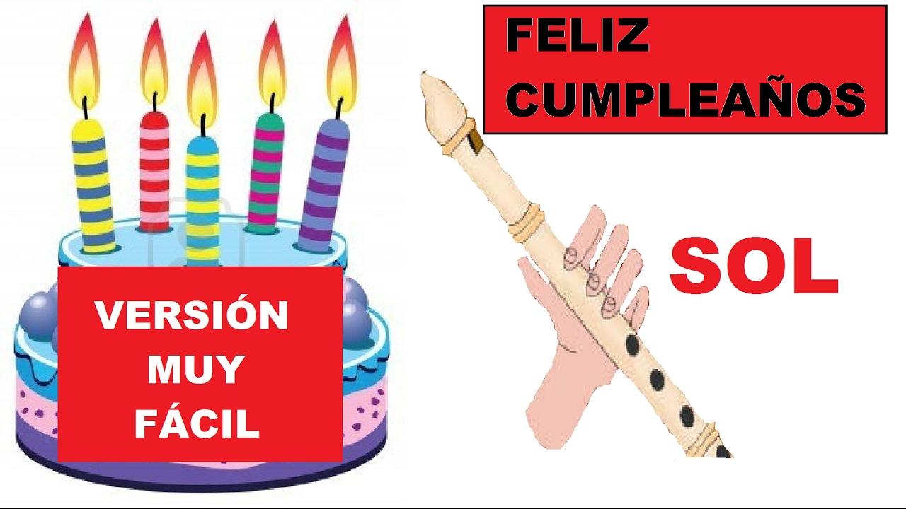 Feliz Cumpleanos Version Muy Facil Para Flauta Dulce Pista Guia
