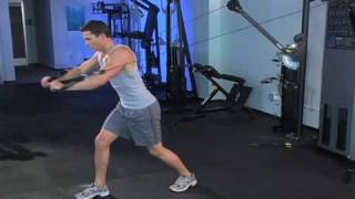 Standing Power Cable Chest Press with Alternate Front Lunge
