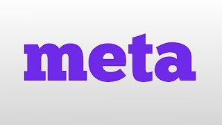 meta meaning and pronunciation