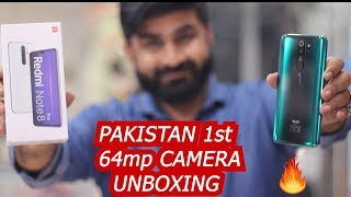 XIAOMI REDMI NOTE 8 PRO IN PAKISTAN | UNBOXING & QUICK REVIEW | 1st 64mp QUAD CAMERA MOBILE  👌👌