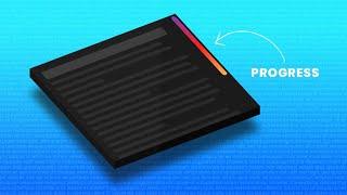 Creative Page Scroll Progress Bar   Html CSS & jQuery