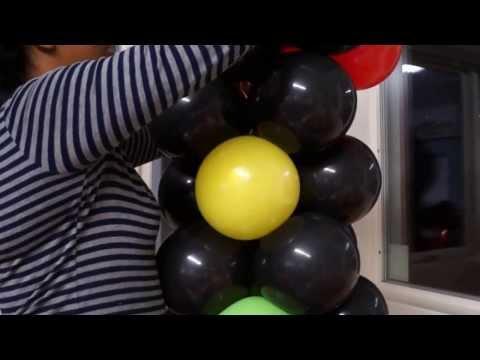 semaforo en globos,,,balloon light