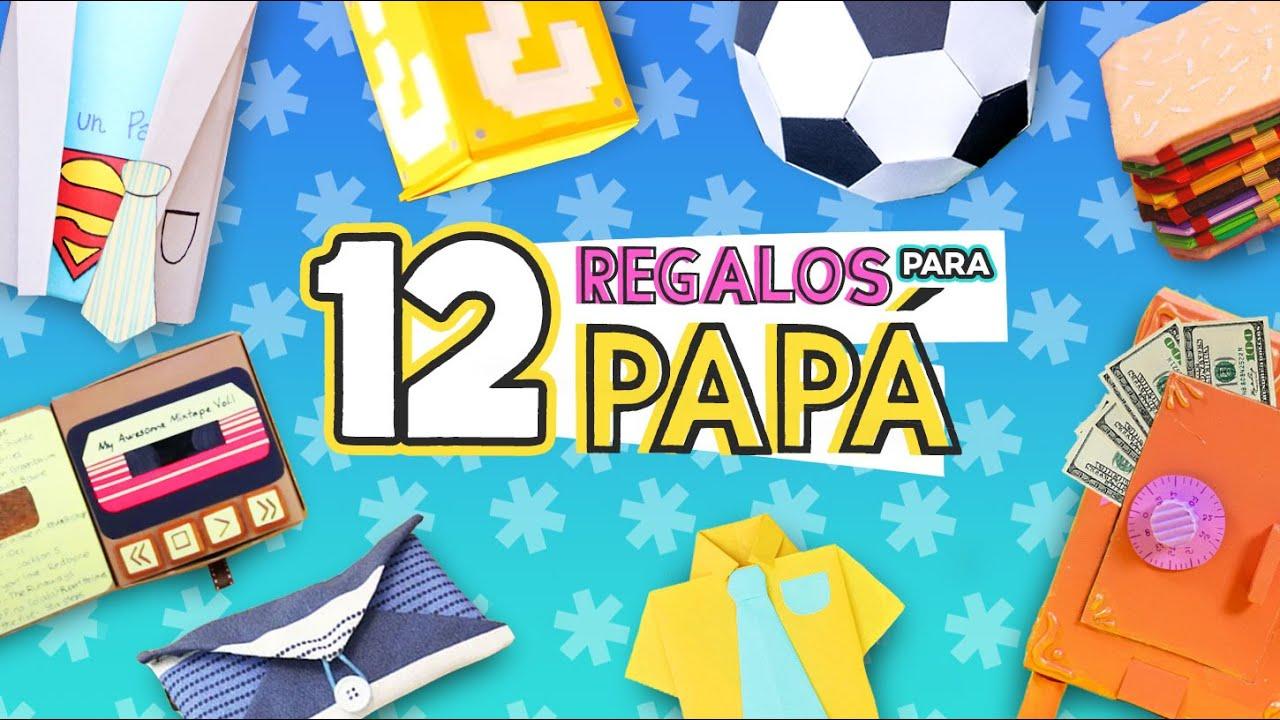 12 REGALOS FÁCILES PARA PAPÁ  Manualidades Día del Padre ✂️ Craftingeek
