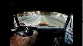 Ride inside the high rpm Small block Chevy powered wood hauler express