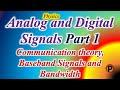 12p1701 IN HINDI  communication theory,  Baseband Signals and Bandwidth,  Analog and Digital Signals