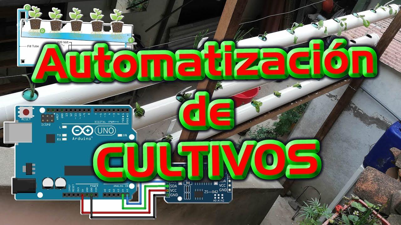 Automatización de cultivo hidroponico NFC - horario de bombeos caseo con  arduino