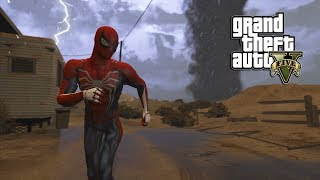 GTA 5 - SPIDER-MAN PS4 VS TORNADOES (GTA 5 PC MODS NVR)