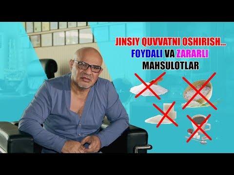 #21 Doktor D: JINSIY QUVVATNI OSHIRISH...FOYDALI va ZARARLI mahsulotlar