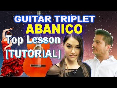 ✔▶[TOP #1 TUTORIAL] FLAMENCO TRIPLET🏆 [BEGINNERS] ▶Flamenco Abanico on Guitar