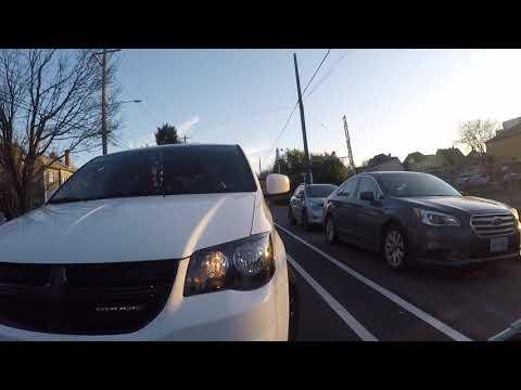 Unprotected bike lanes cause conflict - N Williams - Portland, Oregon