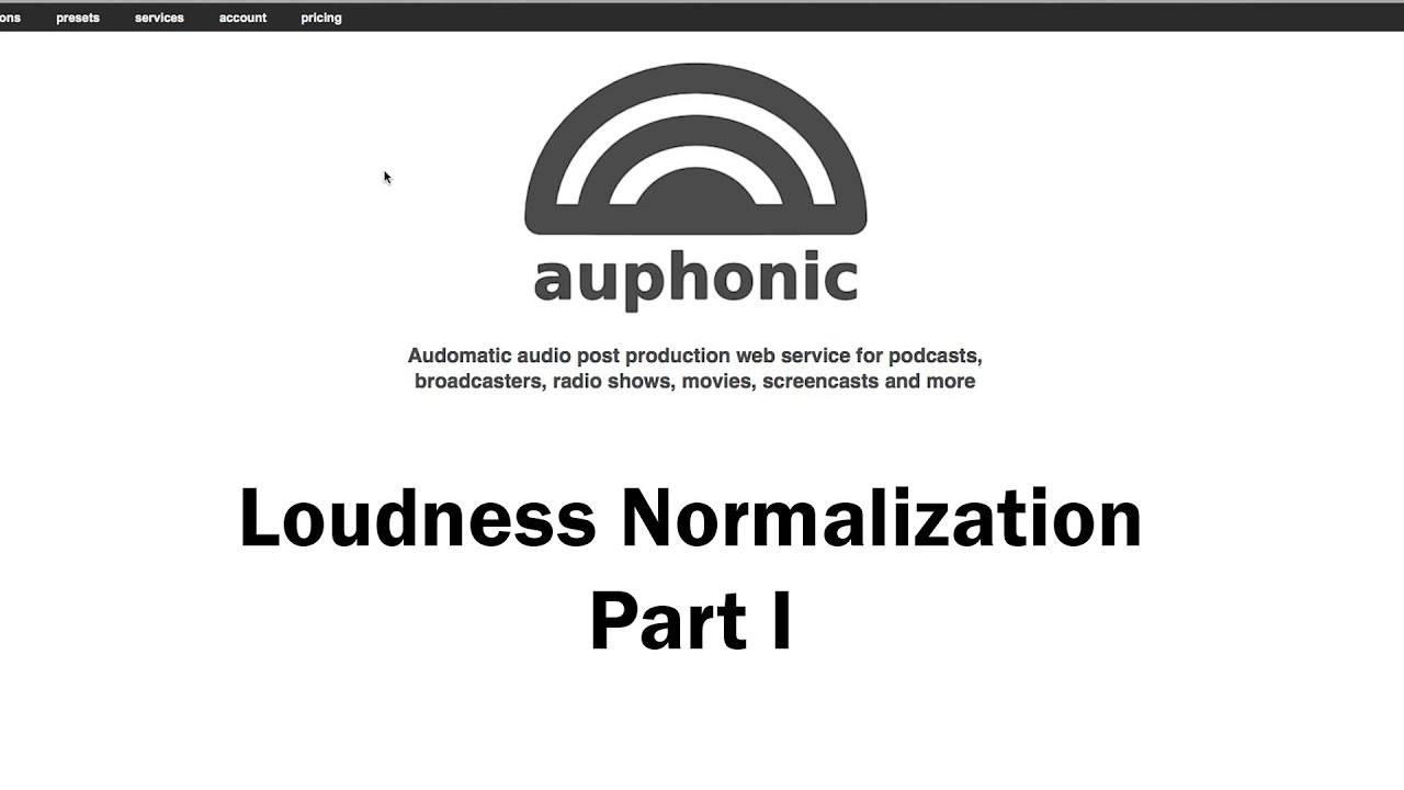 Make Your Audio Loud But Not Too Loud: Loudness Normalization Part 1
