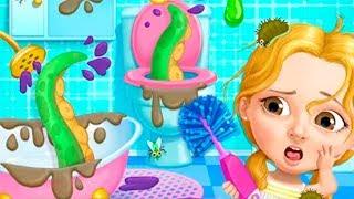 УБОРКА ЧЕЛЛЕНДЖ | Слаймы и крокодил в бассейне | Веселая игра про уборку для детей