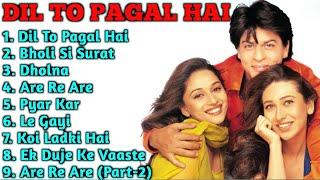 Download Mp3 Dil To Pagal Hai Movie Song All Shahrukh Khan Madhuri Dixit Karishma Kapoor ALL TIME SONGS
