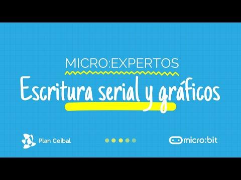 Escritura serial y lectura de gráficos con microbit.