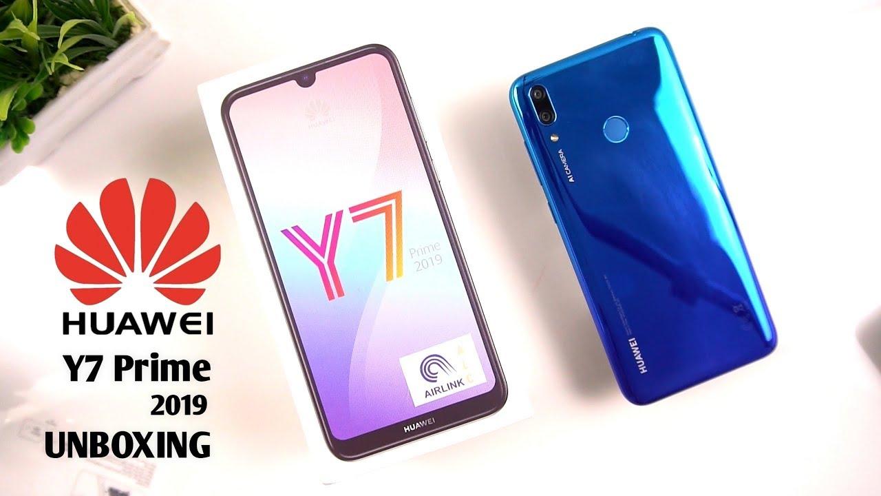 Huawei Y7 Prime 2019 Unboxing Aurora Blue Urdu Hindi Youtube