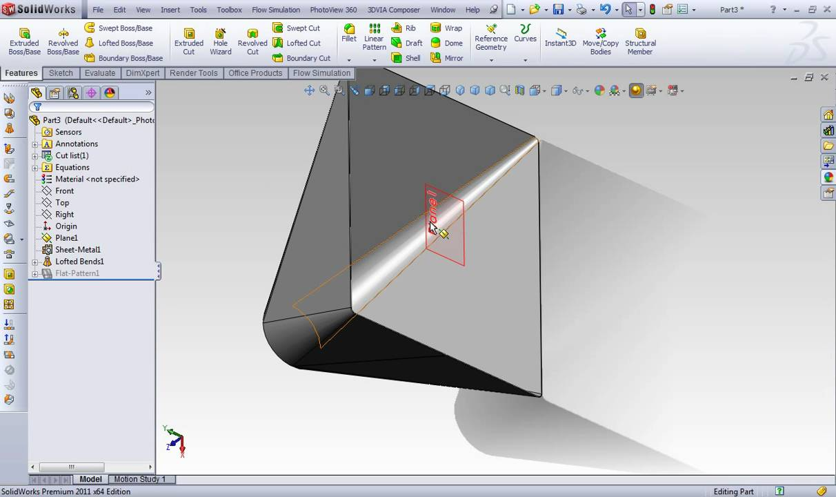 Solidworks Sheet Metal Rectang To Circle Youtube