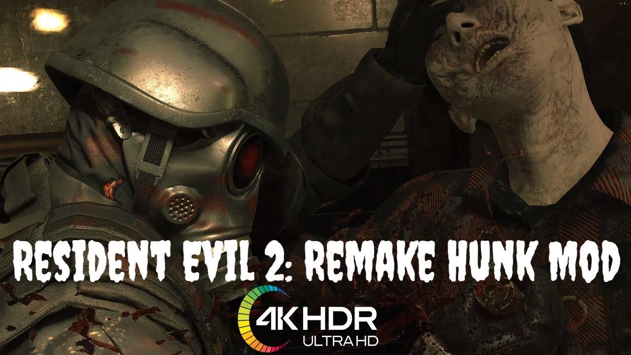 Mod Resident Evil 2 Remake Hunk Character Swap 2nd Run Hunk