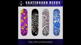 Tribal tattoo products: Handdrawn designs on skateboard decks, mousepads, Iphone and ipad cases!