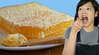 HONEYCOMB - Honey  \u0026 Beeswax- Taste Test | The purest form of honey